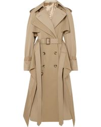 Alexander McQueen | Cotton-garbadine Trench Coat | Lyst