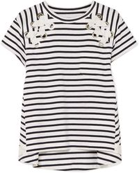 Sacai - Dixie Striped Cotton-jersey T-shirt - Lyst