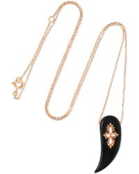 Pascale Monvoisin - Sunday 9-karat Rose Gold Bakelite Necklace - Lyst