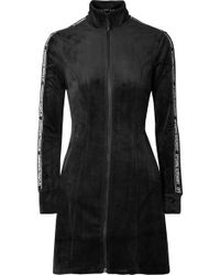 Opening Ceremony - Intarsia-trimmed Velour Mini Dress - Lyst
