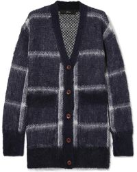 J.Crew - Lian Checked Brushed Knitted Cardigan - Lyst