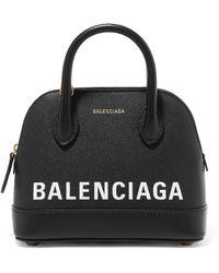 Balenciaga - Ville Mini Printed Leather Tote - Lyst