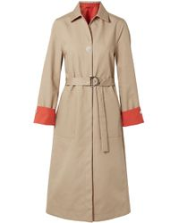 Maje - Reversible Two-tone Cotton-gabardine Trench Coat - Lyst