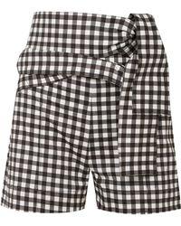 Silvia Tcherassi - Sella Belted Gingham Cotton-blend Shorts - Lyst