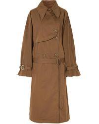 MM6 by Maison Martin Margiela - Langer, gefärbter Trenchcoat - Lyst