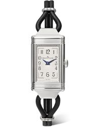 Jaeger-lecoultre - Reverso One Cordonnet Leather, Stainless Steel And Diamond Watch - Lyst