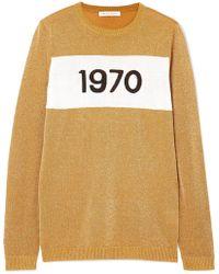 Bella Freud - 1970 Metallic Knitted Sweater - Lyst
