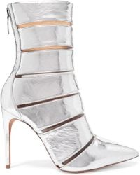Alexandre Birman - Sommer Metallic Leather And Perspex Ankle Boots - Lyst