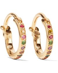 Ileana Makri - Mini Rainbow 18-karat Gold Multi-stone Earrings Gold One Size - Lyst