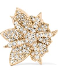 Meadowlark - Wildflower 9-karat Gold Diamond Earring Gold One Size - Lyst