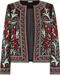 Vilshenko - Regan Embroidered Velvet Jacket - Lyst