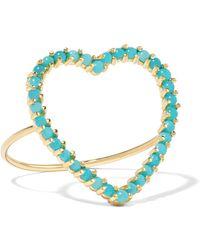 Jennifer Meyer - Open Heart 18-karat Gold Turquoise Ring - Lyst
