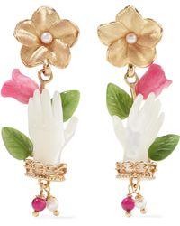 Of Rare Origin - Bud Gold Vermeil Multi-stone Earrings - Lyst