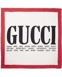 Gucci - Printed Silk-twill Scarf - Lyst