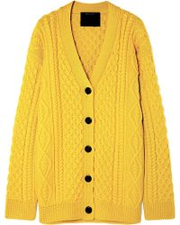 Marc Jacobs - Cable-knit Wool Cardigan - Lyst