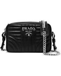 Prada - Quilted Leather Camera Bag - Lyst