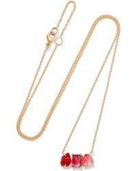 Brooke Gregson | Rivera 18-karat Gold, Tourmaline And Sapphire Necklace | Lyst