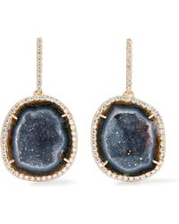 Kimberly Mcdonald | 18-karat Gold, Geode And Diamond Earrings | Lyst