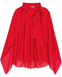 Antonio Berardi - Tie-neck Silk-chiffon Top - Lyst