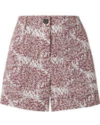 By Malene Birger - Danise Printed Cotton-poplin Shorts - Lyst