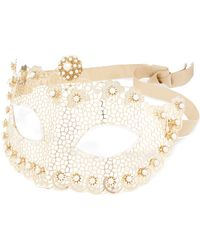 Rosantica - Venezia Gold-tone Pearl Mask - Lyst