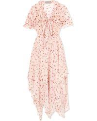 Preen By Thornton Bregazzi - Flora Floral-print Silk-chiffon Midi Dress - Lyst