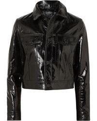 Ksubi - A2b Textured Patent-leather Jacket - Lyst