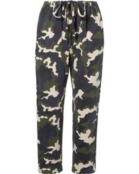 The Upside - Rafiki Camouflage-print Cotton-terry Track Trousers - Lyst