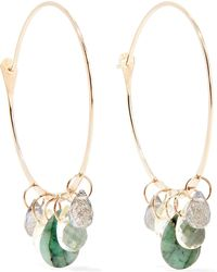Melissa Joy Manning | 14-karat Gold Multi-stone Hoop Earrings | Lyst