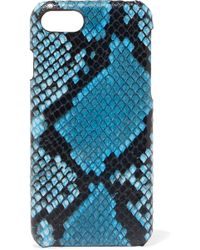 The Case Factory - Python-effect Leather Iphone 7 And 8 Case - Lyst