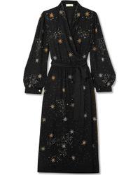 Stine Goya - Micaela Embellished Crepe Wrap Dress - Lyst