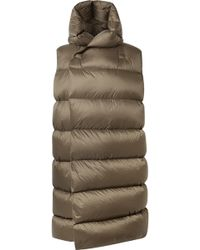 Rick Owens - Oversized Hooded Quilted Shell Down Vest - Lyst