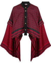 Loewe - Canvas-trimmed Printed Silk-twill Blouse - Lyst