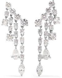 Anita Ko - Rain Drop 18-karat White Gold Diamond Earrings - Lyst