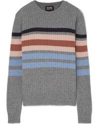 Markus Lupfer - Mia Striped Ribbed Merino Wool Sweater - Lyst