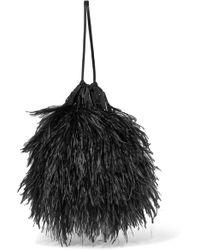 Attico - Feather-embellished Poplin Pouch - Lyst