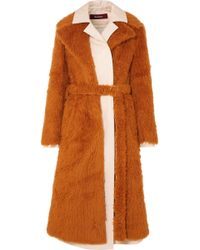Sies Marjan - Mamie Layered Faux Shearling And Cotton-canvas Trench Coat - Lyst