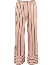 Hanro - Malie Striped Satin-piqué Pyjama Trousers - Lyst