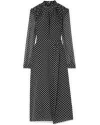 Markus Lupfer - Colette Ruffled Printed Silk Midi Dress - Lyst