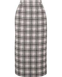 Antonio Berardi - Checked Tweed Pencil Skirt - Lyst