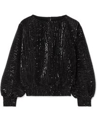 RTA - Pippa Sequined Stretch-tulle Top - Lyst