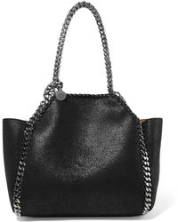 Stella McCartney - The Falabella Mini Reversible Faux Brushed-leather Tote - Lyst