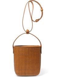 Tl-180 - Petit Panier Saigon Woven Raffia And Leather Shoulder Bag - Lyst