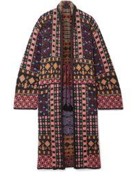 Etro - Metallic Jacquard-knit Cardigan - Lyst