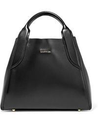 Lanvin - Cabas Mini Leather Tote - Lyst