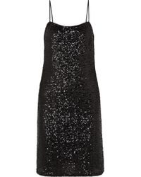 Anna Sui - Sparkling Nights Sequined Mesh Dress - Lyst