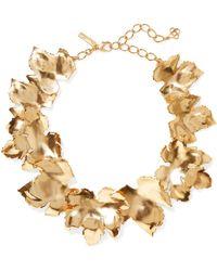 Oscar de la Renta - Grape Leaf Gold-tone Necklace Gold One Size - Lyst
