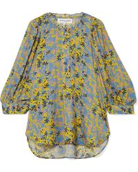 Apiece Apart - Everlasting Printed Voile Blouse - Lyst