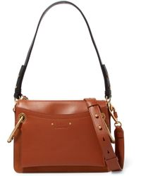 Chloé - Roy Small Leather And Suede Shoulder Bag - Lyst