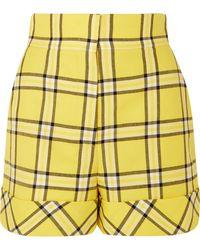 Sara Battaglia - Checked Tailored Shorts - Lyst